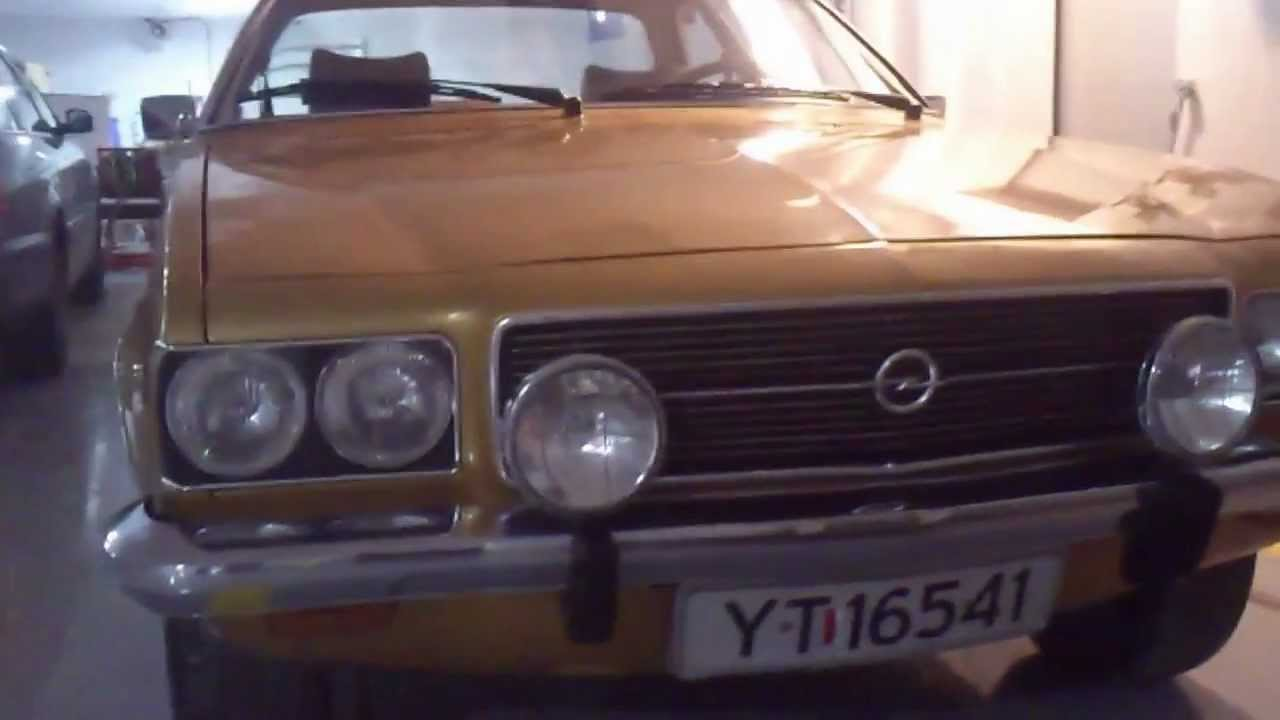 1973 opel rekord d coupe kmst 108000 youtube. Black Bedroom Furniture Sets. Home Design Ideas
