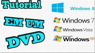 Tutorial como criar uma ISO bootavel do windows XP/Vista/7/8 e gravar em um DVD