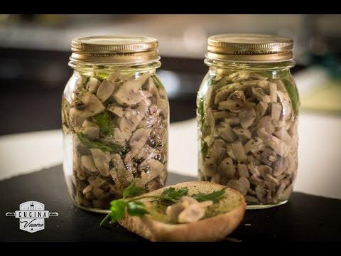 Ricetta conserva Funghi sott'olio • Cucina Venere