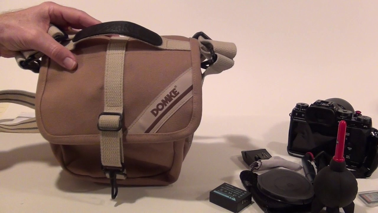 6c3b427597 Domke F9 Camera Bag Review with Fuji X-T1 - YouTube