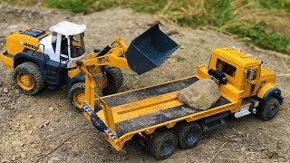 Stunning Construction Site Truck and Loader Heavy Load!