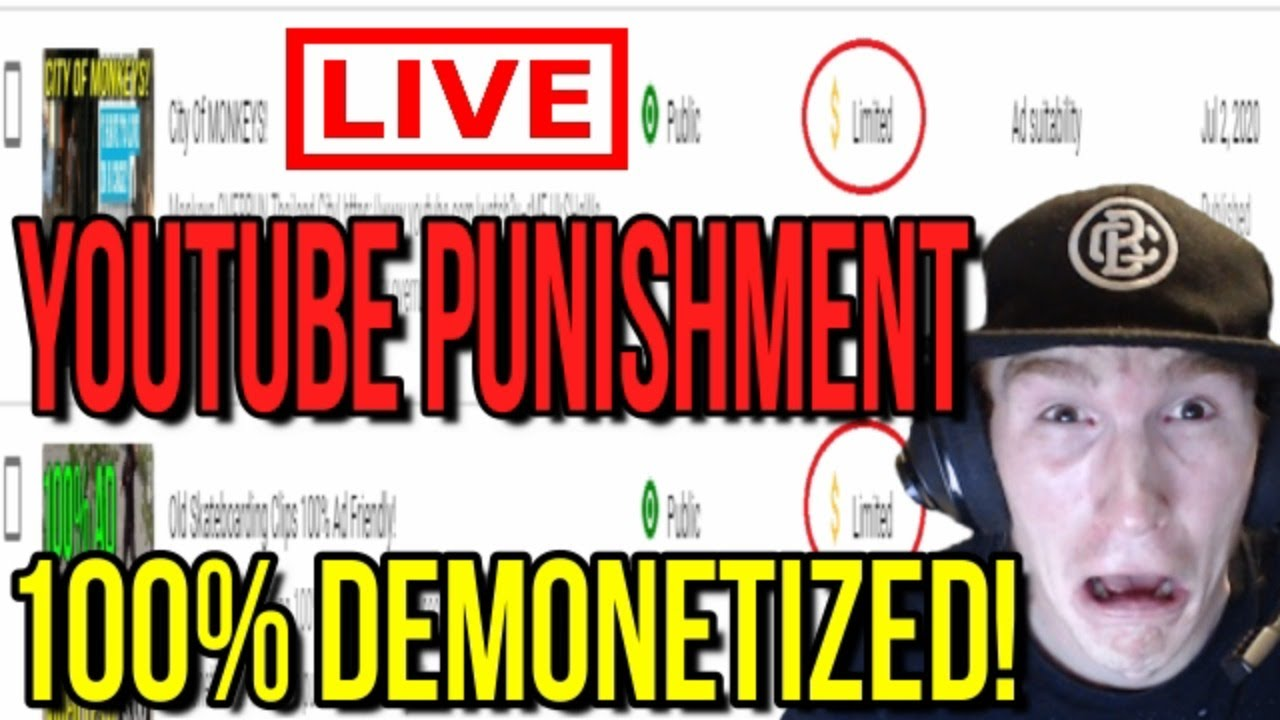 YouTube Punishment: DEMONETIZED!