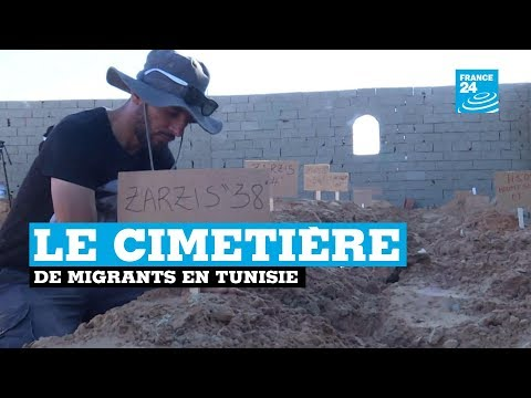 Le cimetière de migrants en Tunisie