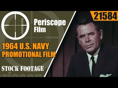 "1964 U.S. NAVY PROMOTIONAL FILM ""SEAPOWER"" with GLENN FORD  21584"
