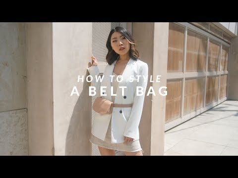 HOW TO STYLE | Styling a Leather Belt Bag in 3 Ways - Part 1 | JULIA SUH