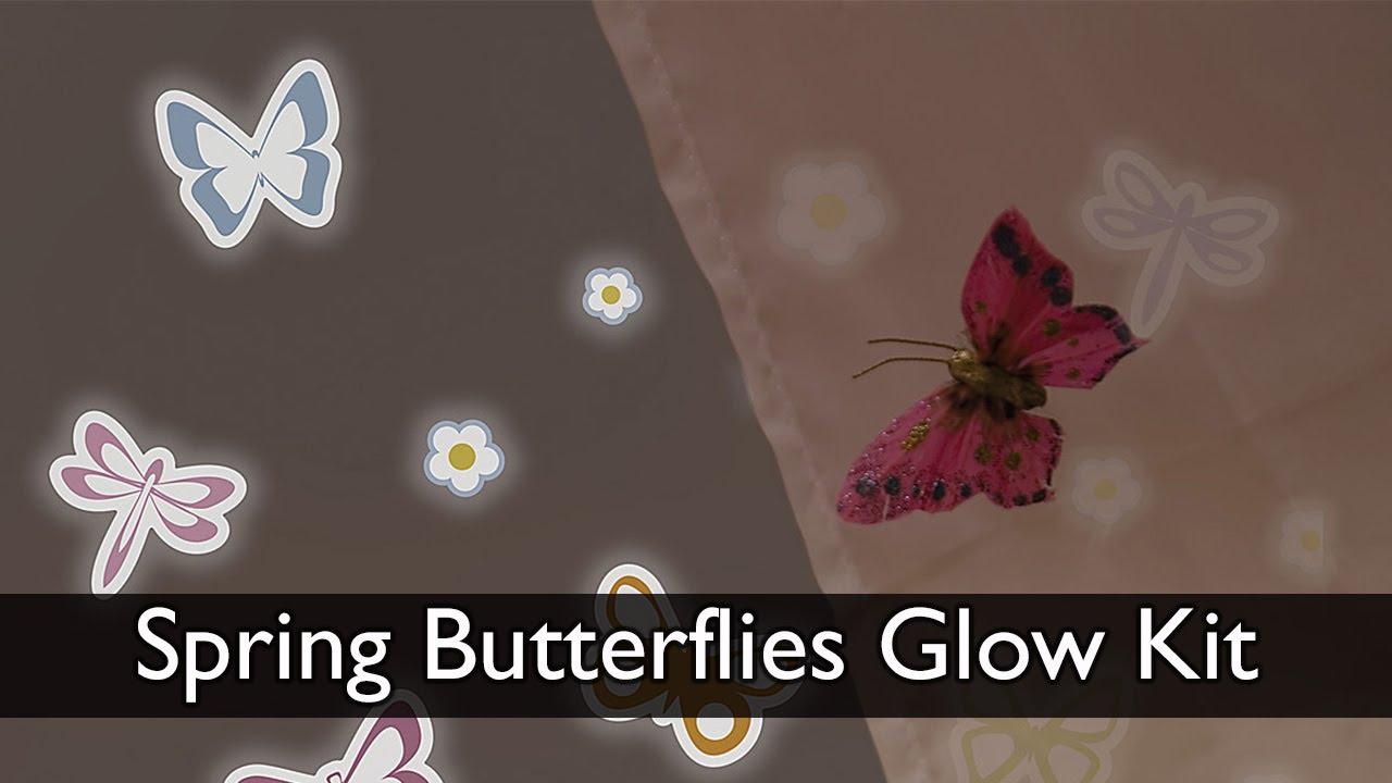 glow in the dark spring butterflies wall decals youtube glow in the dark spring butterflies wall decals