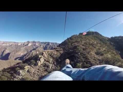 World's Longest Zipline - Copper Canyon, Mexico - Dec 30 2014