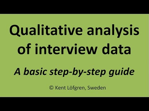 Qualitative analysis of interview data: A step-by-step guide - YouTube