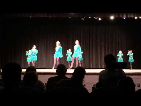 Gracie's Spring Dance Recital, Part I: Irish Step (she is on the far left).