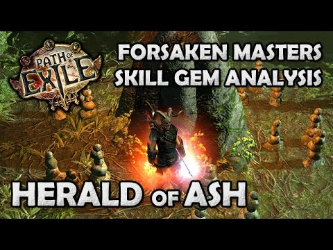 Path of Exile: HERALD OF ASH Skill Gem Mechanics Guide & Analysis