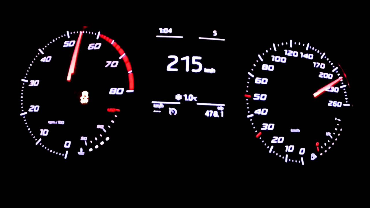 Seat Leon 1,4 TSI 140  - acceleration 0-200 km/h and other tests