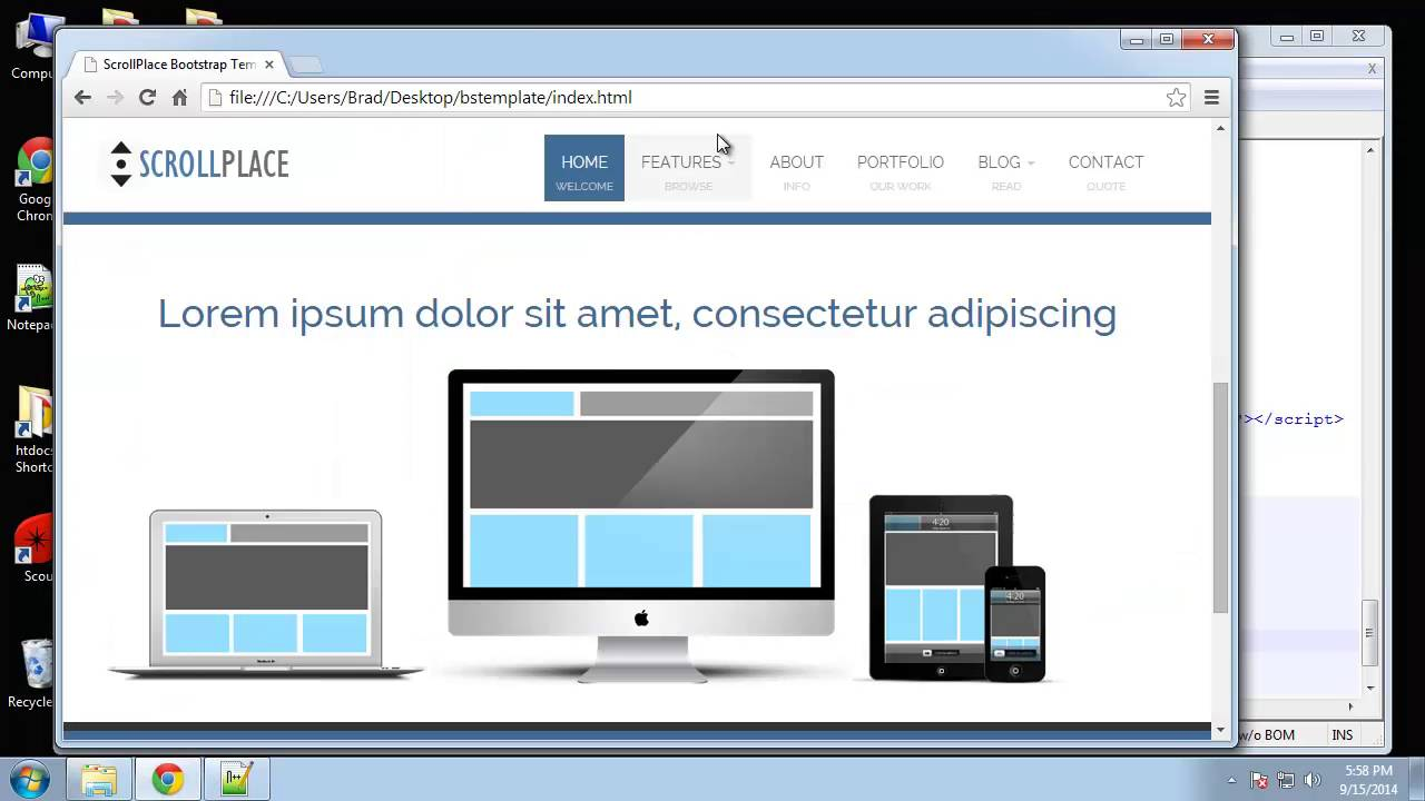 Learn How To Create An Animated Bootstrap Template With Html Part
