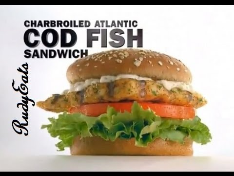 CarlsJr Atlantic Cod Sandwich Review - RudyEats