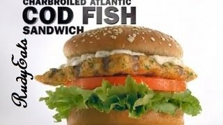 CarlsJr Atlantic Cod Sandwich Review - RudyEats