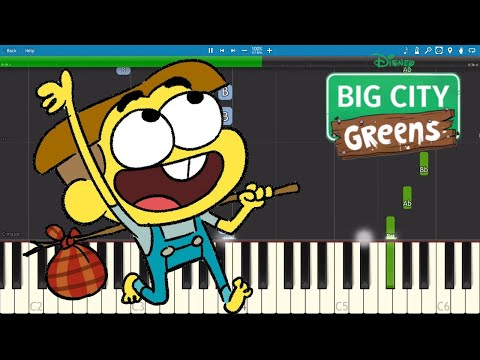 Big City Greens Theme Song Intro - Piano Tutorial