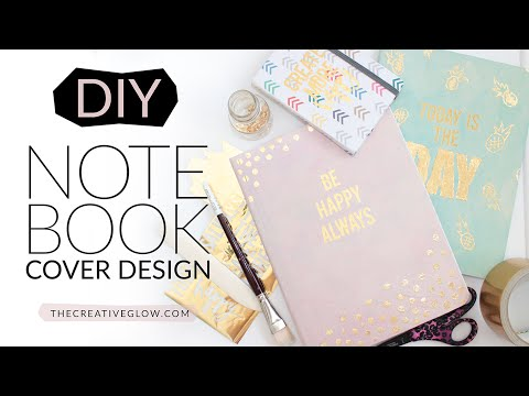 DIY Notebook Cover Design - Gold Leaf Designer Look