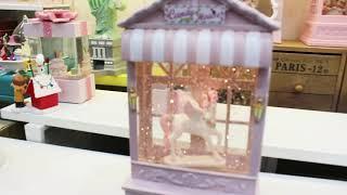 LED 핑크 하우스 워터볼 무드등(유니콘)