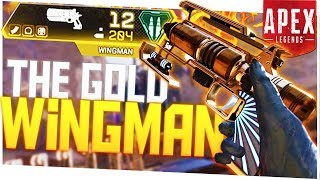 I Found a GOLD Wingman and It SHREDS! -  PS4 Pro Apex Legends Solo!