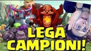 LEGA CAMPIONE E 2000 GEMME!! DEVASTO CLASH OF CLANS ITA