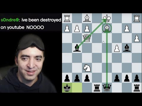 Winning in 13 moves with the Englund Gambit (Blindfold Chess)