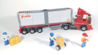 Sluban Town M38-B0338 - Double Van Freight Train - Container Truck