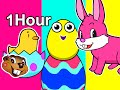 Thumbnail for Surprise Easter Eggs Special | 1 Hour Nursery Rhymes | Baby Toddler Kindergarten Learning, ABC 123