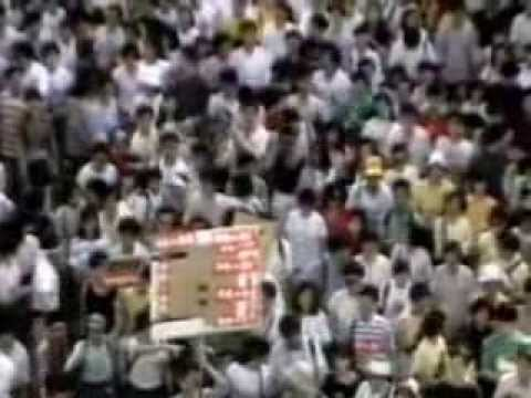 The Tiananmen Square protest