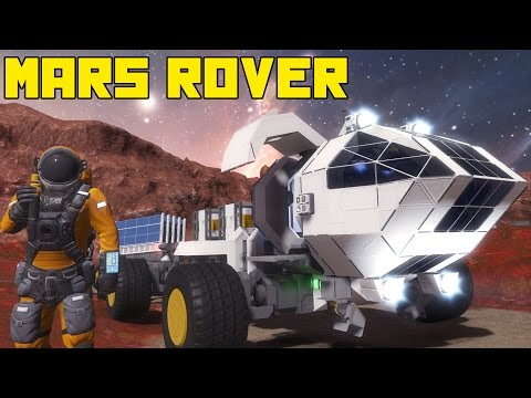 """Space Engineers: Mars Rover!!! """"The Martian"""" Movie, the Red Planet, Matt Damon"""