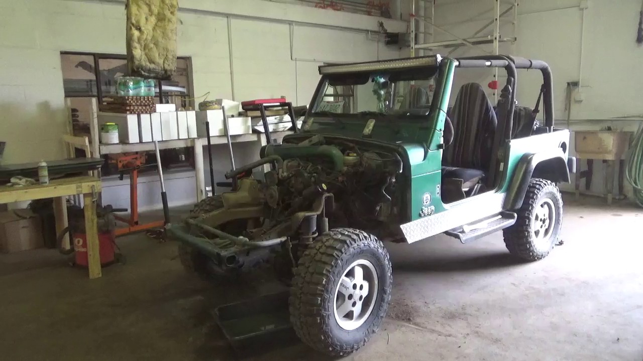 medium resolution of frame swap jeep tj day 1