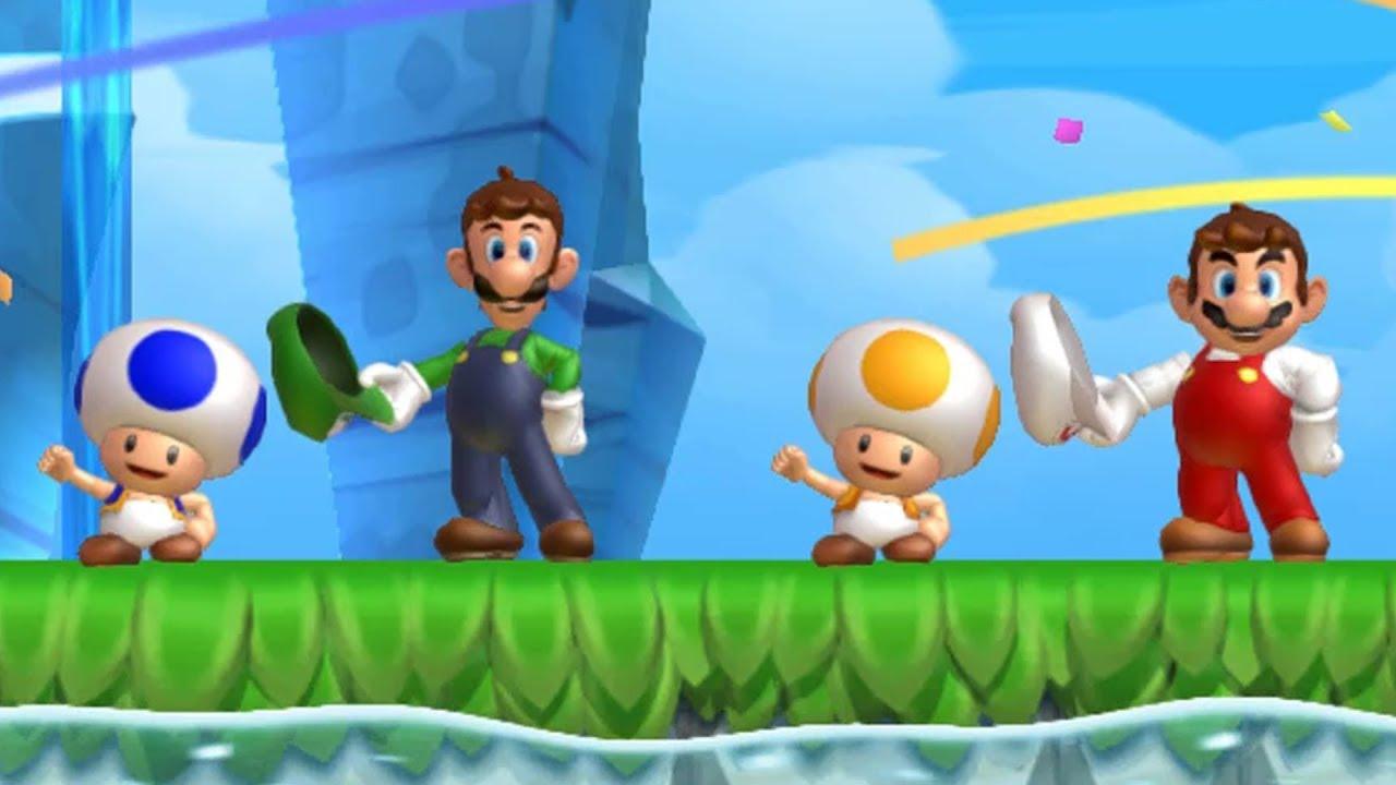 New Super Mario Bros  U - Coin Battle (4 Players)