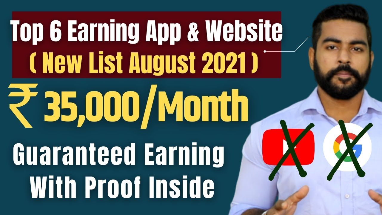 [New] Top 6 Earning App & Website List AUGUST 2021 | Work From Home | Student | Praveen Dilliwala