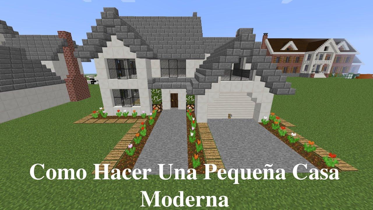 Como hacer una peque a casa moderna en minecraft pt2 - Como se hace una casa de madera ...