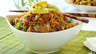 Sizzling Sirloin Beef Fried Rice Cooking Instructions