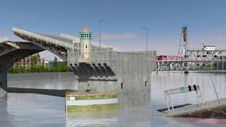 What could happen to the Burnside Bridge in an earthquake