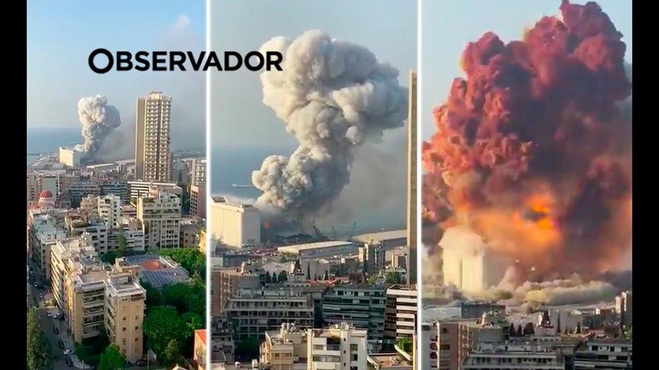 Beirute: mais de 100 mortes, 300 mil sem-teto e risco de desabastecimento.(Veja o vídeo)