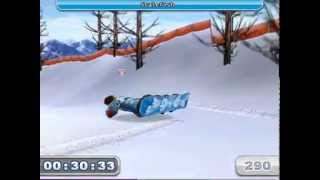 slope rider gameplay video!! (a snoboarding game on a mac)