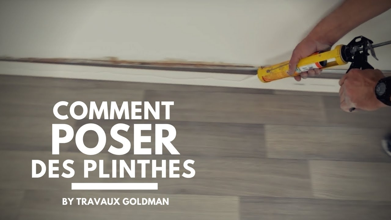 Comment poser des plinthes youtube for Pose parquet sur carrelage