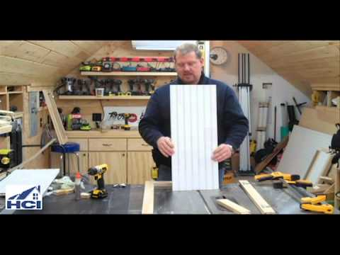 How To Make Shaker Style Cabinet Doors With Beadboard Panels Youtube