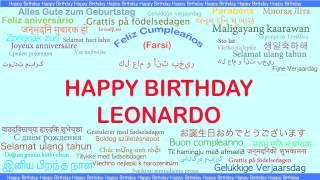 Leonardo   Languages Idiomas - Happy Birthday