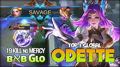 SAVAGE!! Odette Mid Lane? 19 Kill is Real!! ʙאʙ Gιo Top 1 Global Odette - Mobile Legends