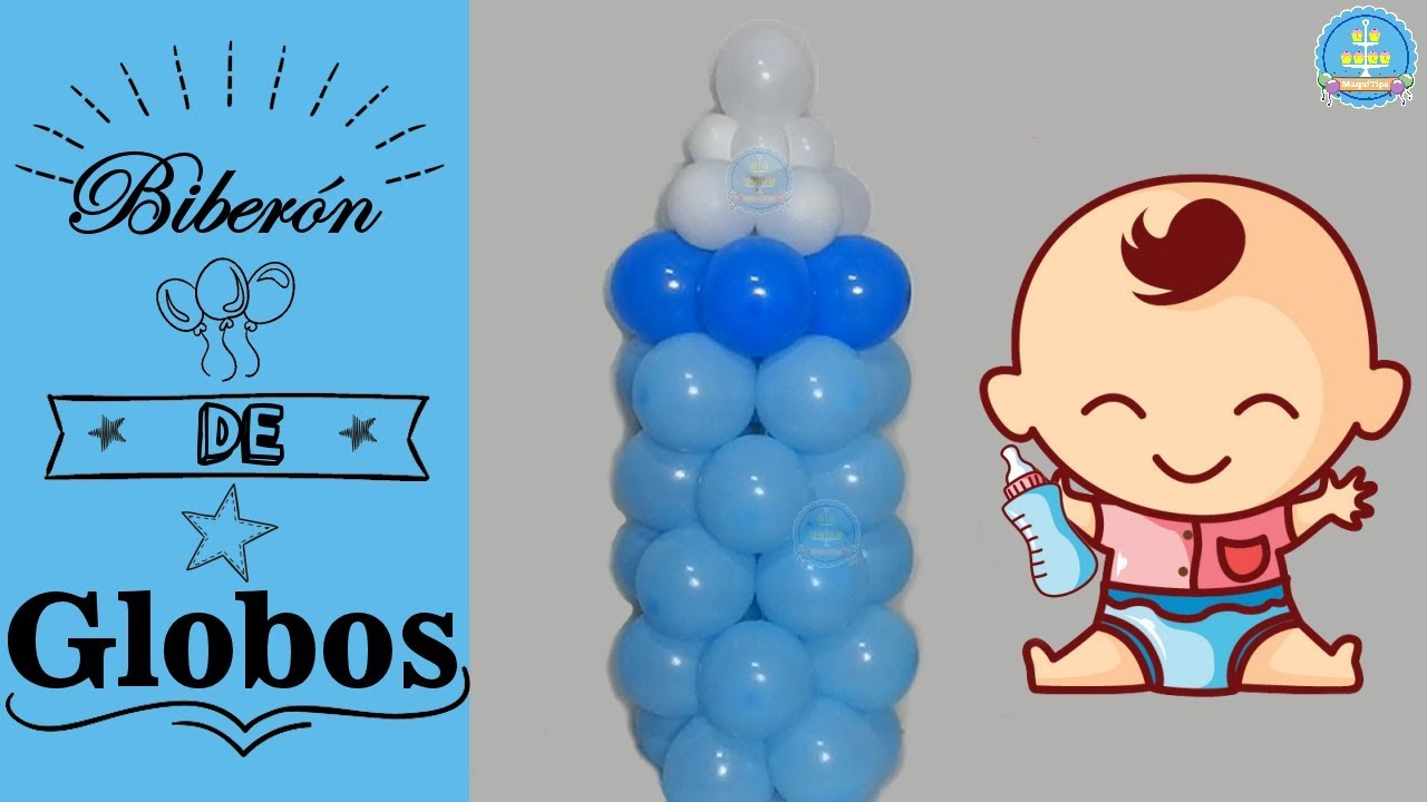Diy baby bottle balloons baby shower decoration for Baby bottle balloon decoration