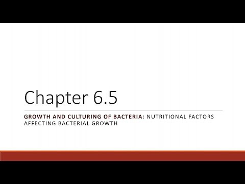 BIO 275 Chapter 06.05 Nutritional Factors Affecting Bacterial Growth