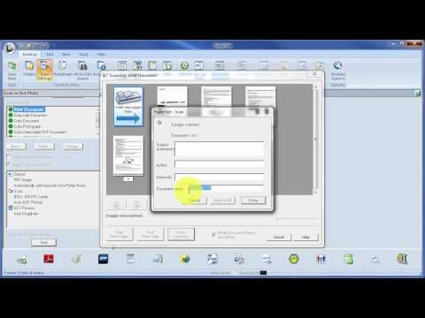How to use PaperPort Demo Manage Folders & Scan Double Sided