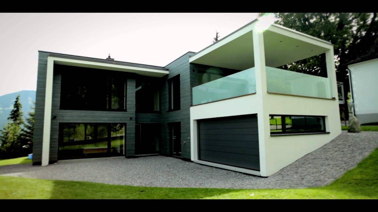 Moderne architectuur en leisteen youtube for Moderne villa architectuur