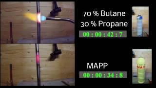 Bernzomatic TS8000 MAPP vs. Propane/Butane Mix
