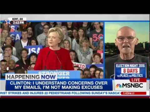 "James Carville: ""FBI, KGB in Collusion with House Republicans"" on Clinton emails 10-31-2016"