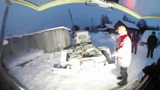 Видео 360! Поездка В Кемь На Вездеходе Шерп! Туда-Сюда! Морозим Сопли :)