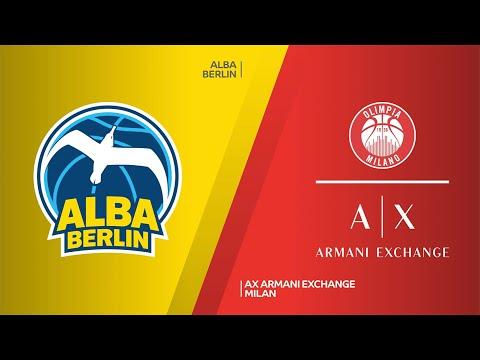 ALBA Berlin - AX Armani Exchange Milan Highlights | Turkish Airlines EuroLeague, RS Round 20