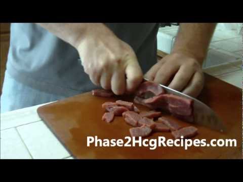 HCG Recipes For Phase 2 - Mongolian Beef & Cabbage