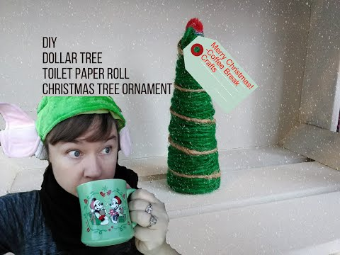 Diy Dollar Tree Twine Toilet Paper Roll Christmas Tree Ornament-Craft With Me
